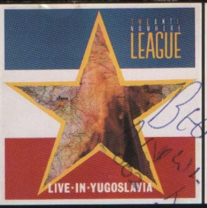 ANTINOWHERE LEAGUE Live in Zagreb 1983 front cover
