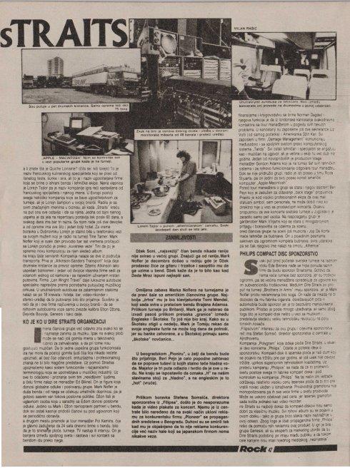 DIRE STRAITS YUGOSLAVIA 1985 b