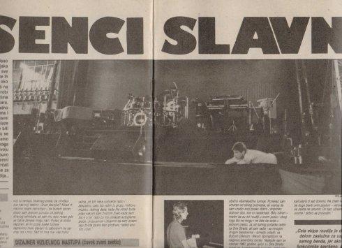 DIRE STRAITS YUGOSLAVIA 1985 scena u Beogradu