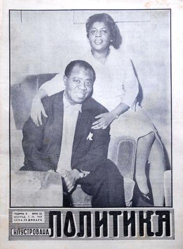 Ilustrovana Politika 07.04.1959. Louis Armstrong
