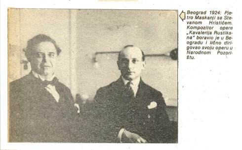 Pietro Mascagni Beograd 1924