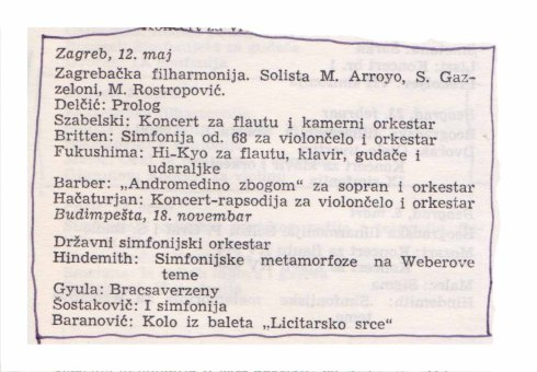 MARTINA ARROYO Zagreb 1965