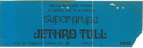 "JETHRO TULL 1975 04 13 Beograd, Hala ""Pionir"""