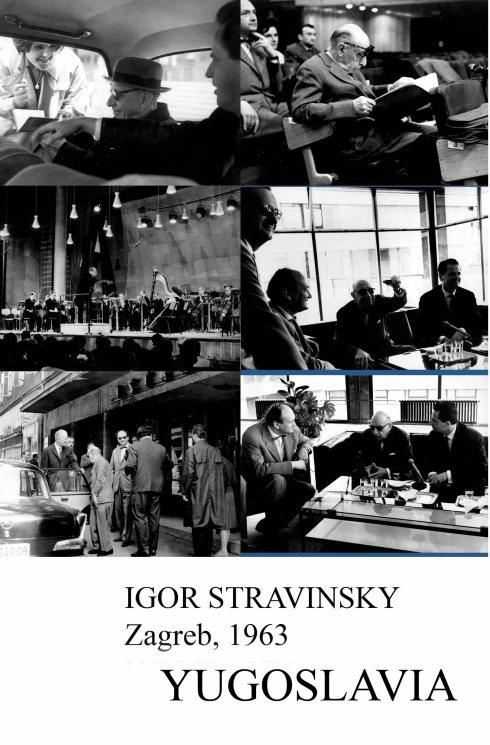 IGOR STRAVINSKY Zagreb 1963 kolaz