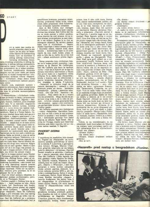 NAZARETH GIRSL SCHOOL YUgoslavia 1986 3