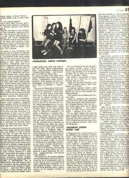 NAZARETH GIRSL SCHOOL YUgoslavia 1986 4