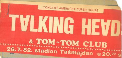 TALKING HEADS 1982 07 26 Beograd