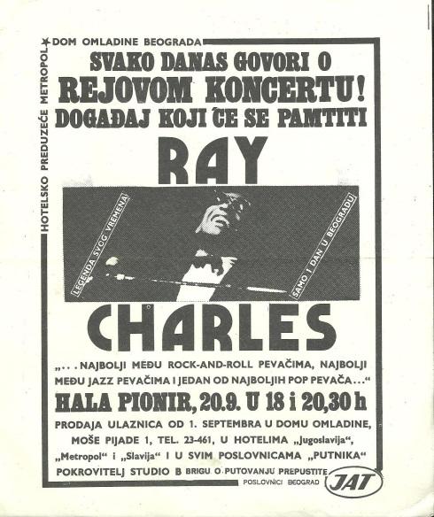 RAY CHARLES Beograd 1972 plakat