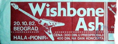 WISHBONE ASH Beograd 1982