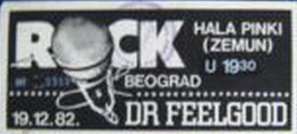 DR FEELGOOD Hala Pinki 19 dec 1982 Beograd_karta