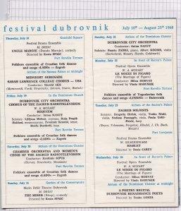 Program DUBROVACKIH LETNJIH IGARA 1968 3