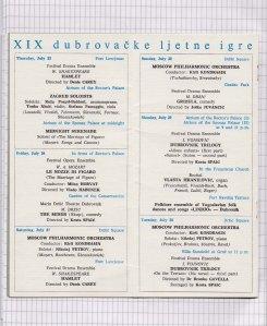 Program DUBROVACKIH LETNJIH IGARA 1968 4