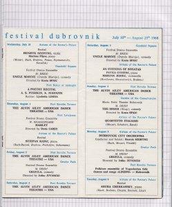 Program DUBROVACKIH LETNJIH IGARA 1968 5