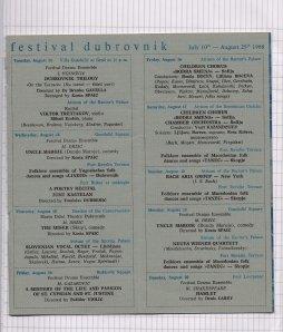 Program DUBROVACKIH LETNJIH IGARA 1968 7