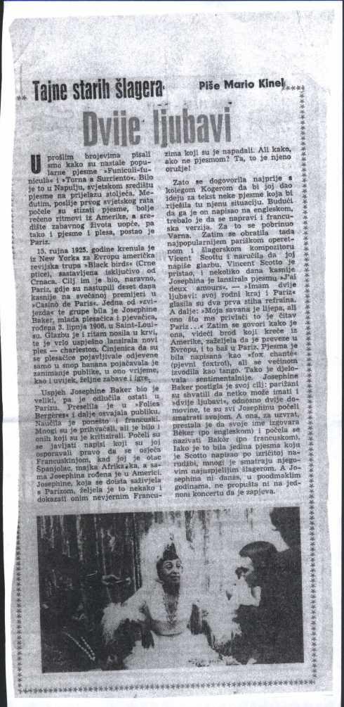 Tajne starih slagera Josephine Baker 1966