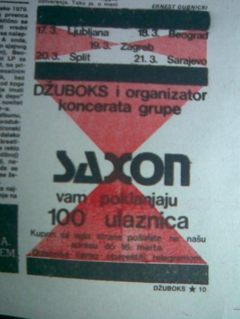 SAXON Turneja po JUGOSLAVIJI 1983