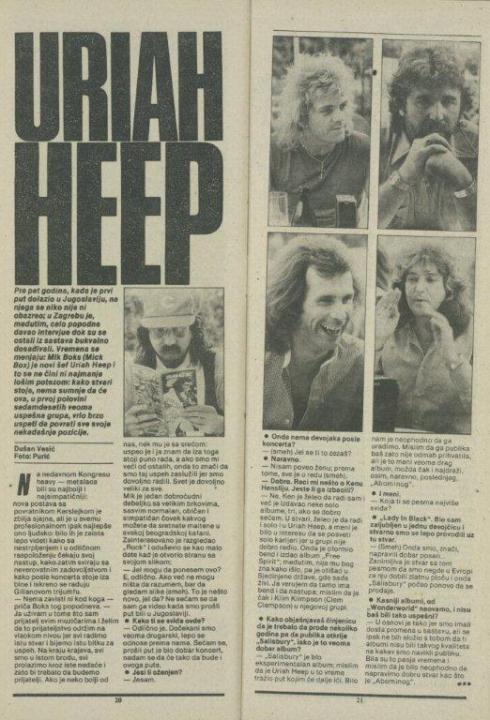 HEAVY METAL FEST Zg 1982 Rock 82 - 24 (10) URIAH HEEP