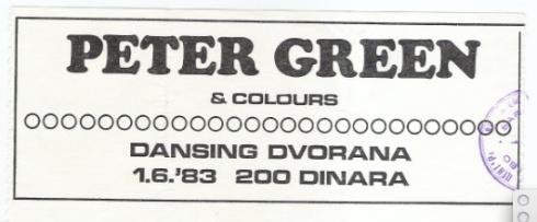 PETER GREEN Sarajevo 1983