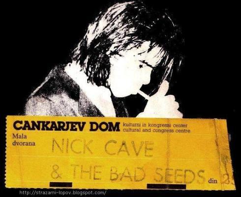 NICK CAVE Hala Tivoli  Ljubljana 8 februara 1987