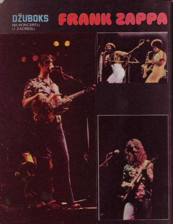 FRANK ZAPPA Zagreb 22 nov 1975