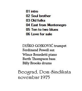 DUSKO GOYKOVICH Dom Sindikata novembra 1975 Beograd