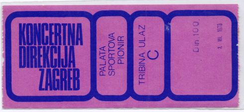 karta DR FEELGOOD Beograd 1978