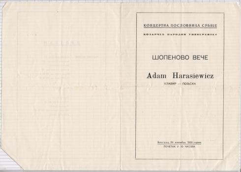 ADAM HARASIEWICZ Beograd 1955 1