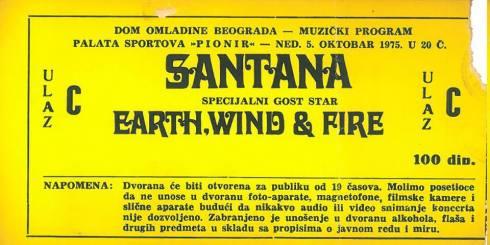 1975.10.05. - Santana - Beograd