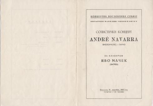 ANDRE NAVARRA Beograd 1955 a