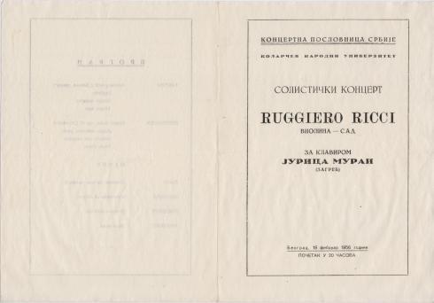 RUGGIERO RICCI Beograd 1956 a