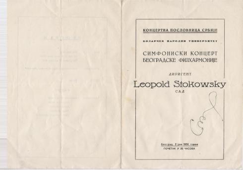LEOPOLD STOKOWSKY Beograd 1956 1