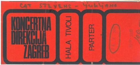 CAT STEVENS 1976 05 14 Ljublana