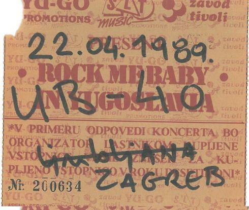 UB 40 1989 04 22 Zagreb