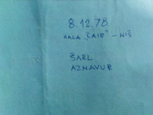 CHARLES AZNAVOUR Nis 8 dec 1978  2