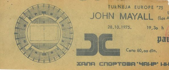 JOHN MAYALL 1975.10.28 Nis, Hala Sprtova Cair