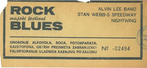 Majski festival Rock Blues 1982 05 13 Alvin Lee Band, Stan Webb-S Speedway Nis_