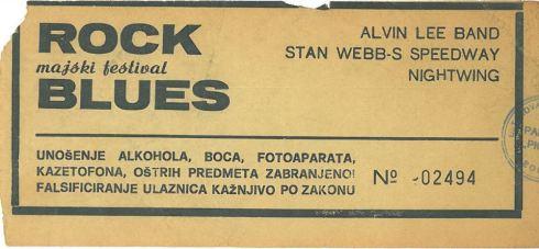 Majski festival Rock Blues 1982 05 13 Alvin Lee Band, Stan Webb-S Speedway Nis_