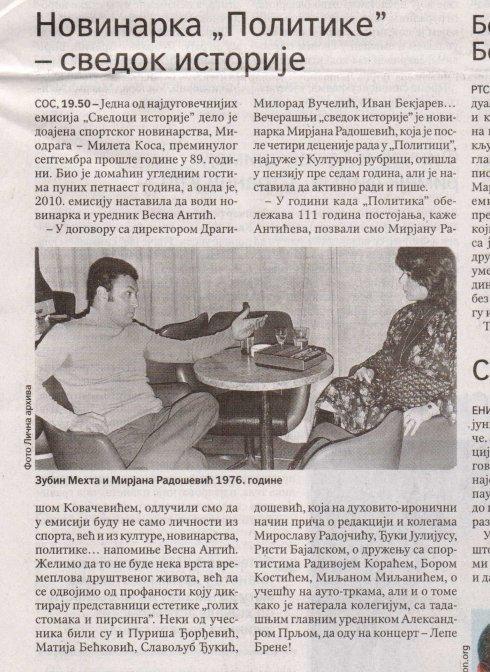 ZUBIN MEHTA Beograd 1976