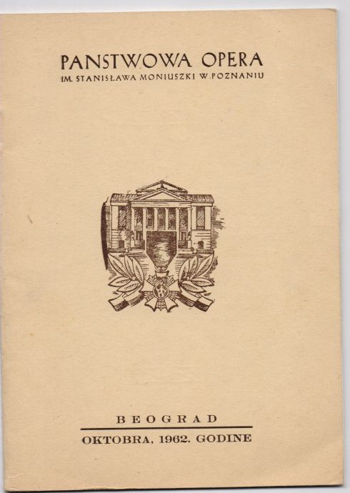 Panstwowa opera Poznan Bg 19621