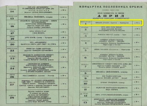GERARD SOUZAY Beograd 1957 1