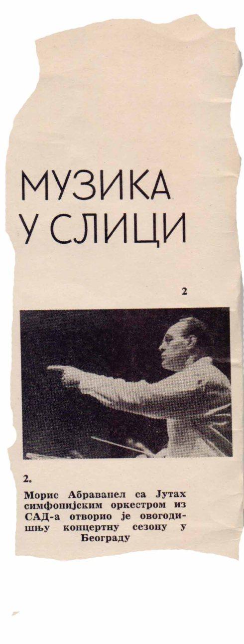 MORIS ABRAVANEL Beograd 1966