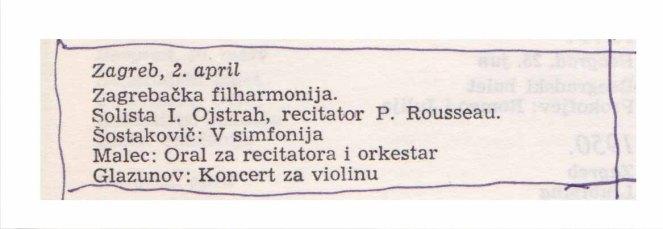 IGOR OISTRAKH Beograd 1969