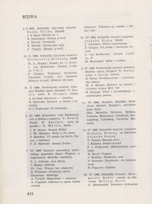 Koncerti u Rijeci Februar_april 1966 1