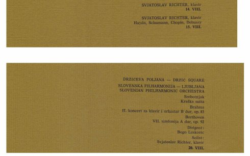 SVIATOSLAV RICHTER Dubrovnik 1967